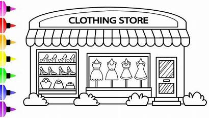 Coloring Pages Drawing Clothing Draw Clothes Colored