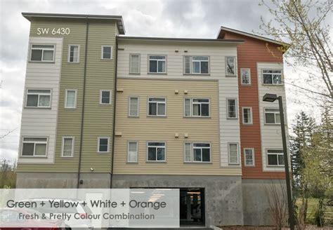 apartment building exterior color schemes