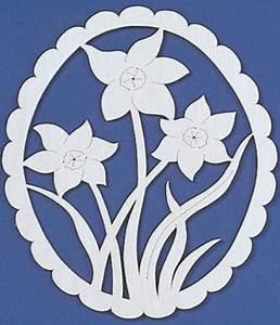 Springtime Daffodils Scroll Saw Fretwork Pattern