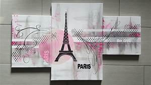 Tableau Rose Et Gris : tableau 96 paris les tableaux de muriel ~ Teatrodelosmanantiales.com Idées de Décoration