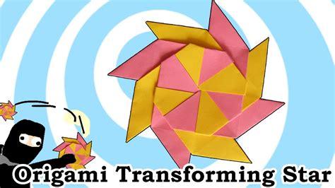 origami transforming ninja star  pointed youtube