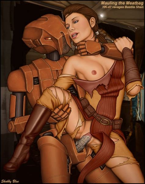 Star Wars Sex Hk 47 And Bastilla Shan001 Comic Art