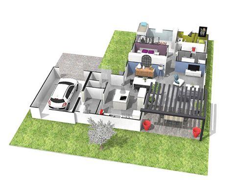 plan de maison plain pied 4 chambres avec garage maison contemporaine plain pied toiture terrasse