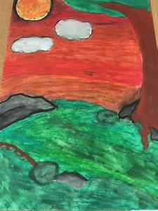 Oil Pastel Nature - Corkran Middle School Art