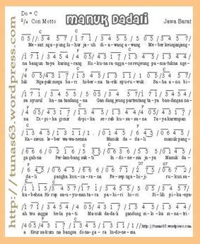 not angka lagu daerah manuk dadali jawa barat tunas63