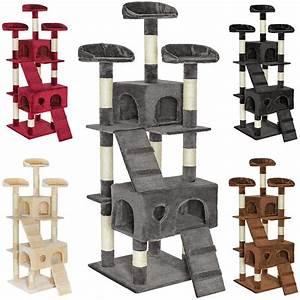 Arbre A Chat Solide : arbre chat avec griffoir et grattoir de 170cm tectake ~ Mglfilm.com Idées de Décoration