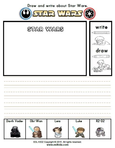 star wars activities games  worksheets  kids
