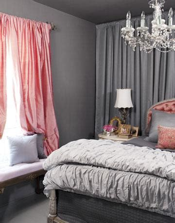 pink  gray bedrooms design ideas