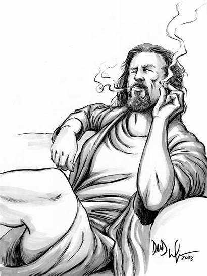 Drawings Trippy Dude Lebowski Smoke Sketches Rk