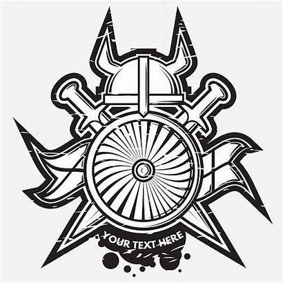 Vector Hammer Thor Clipart Thors Weapon Shield