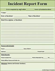 Printable Sample Police Report Template Form   Laywers ...