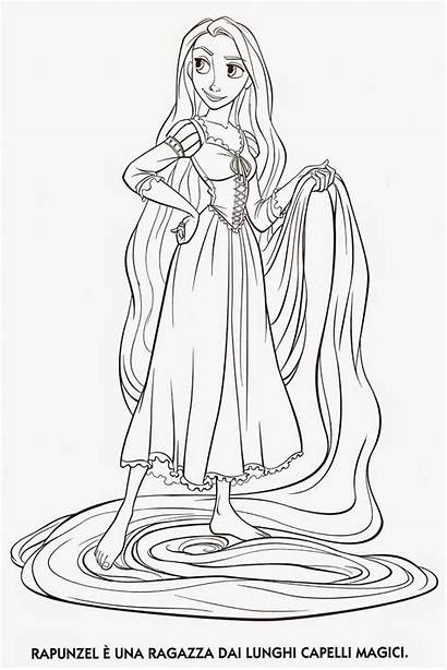 Coloring Tangled Rapunzel Pages Printable Pascal Gothel