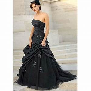 vintage black wedding dresses long sexy strapless with With sexy black wedding dress