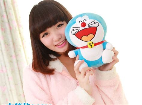 Cute Small Laughing Doraemon Toy Stuffed Lovely Blue