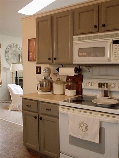 grey cabinets and white appliances a new home
