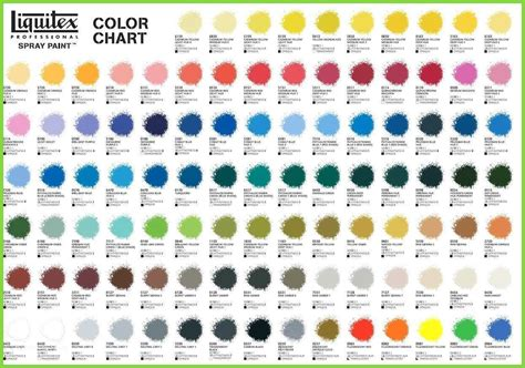 artist loft acrylic paint color chart good liquitex
