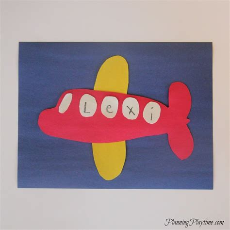 preschool name crafts on name activities 728 | Preschool Name Craft Airplane