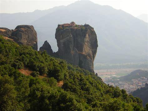 meteora greece monastery  agia triada   world