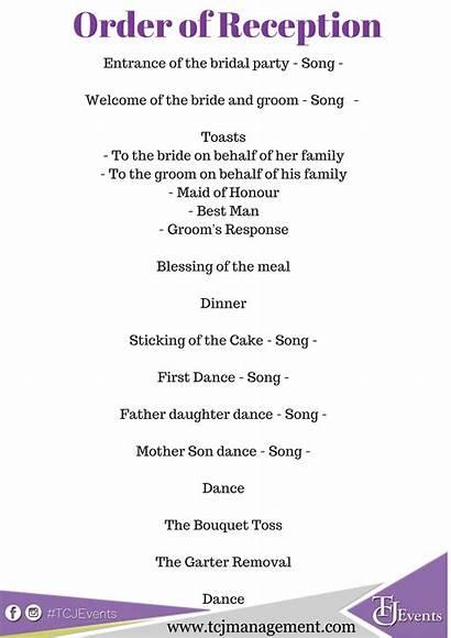 Reception Order Dance Bride Program Events Programme