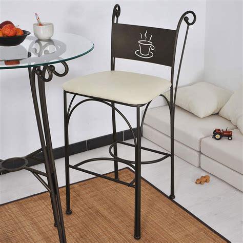 chaise haute en fer forgé hauteur 110 cm set de 2 pièces
