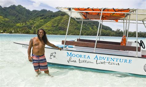 Glass Bottom Boat Moorea drift snorkeling with moorea adventure from 99