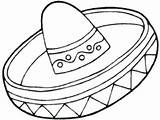 Coloring Sombrero Hat Pages Mexican Mayo Printable Getdrawings Related Getcolorings Colorings sketch template