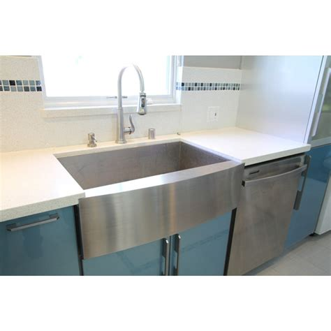 in kitchen sink 36 inch stainless steel single bowl curved front farm 4880