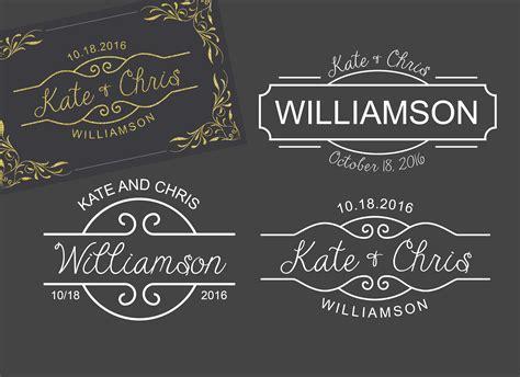 monogram template logo wedding wedding templates