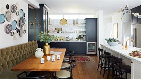 interior design  open space kitchen  eclectic