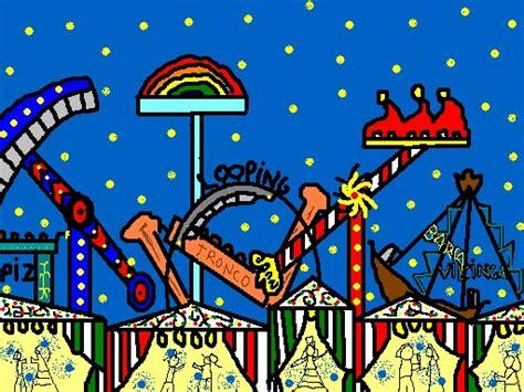 Motivos relacionados con la fiesta de abril de andalucía para colorear en línea con el ordenador. Atracciones de ferias en dibujo - Imagui