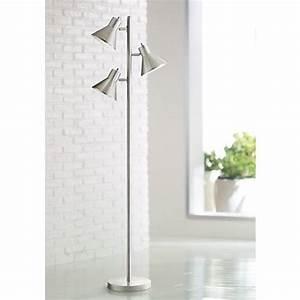 Luken brushed steel 3 light tree floor lamp 9m692 for 3 light steel floor lamp