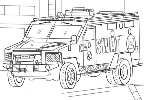 polizeiauto ausmalbilder malvorlagen fuer kinder lustige