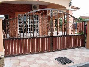 western metal gate entrances house gate designs With iron gate designs for homes