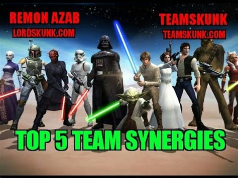 find great synergy star wars galaxy  heroes forums