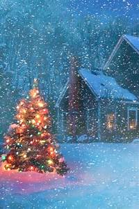 Beautiful Christmas Tree on a Snowy Evening | Incredible Pics