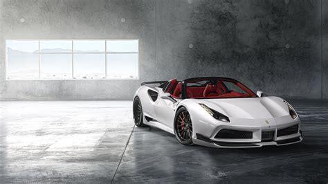 Ferrari 488 Pearl White 4k 8k Wallpaper