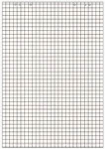 bloc pour paperboard recharge pour chevalet de With feuille à carreaux à imprimer