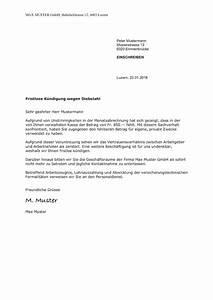 Gründe Für Fristlose Kündigung Mieter : fristlose k ndigung durch arbeitgeber schweiz vorlage ~ Lizthompson.info Haus und Dekorationen