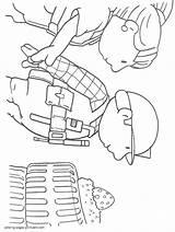 Builder Coloring Bob Printable Boys Ads Cartoon Google sketch template
