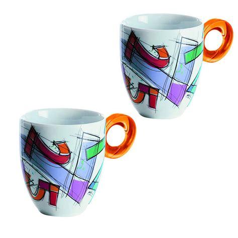guzzini bicchieri bicchieri mug number 2pz arancio guzzini stilcasa net