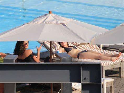 lucy hale  bikini   pool  sao paulo hawtcelebs