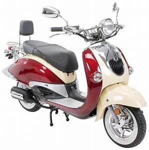 Motorroller 50 Ccm : znen motorroller retro scooter zn50qt h 50 ccm 25 km h ~ Kayakingforconservation.com Haus und Dekorationen
