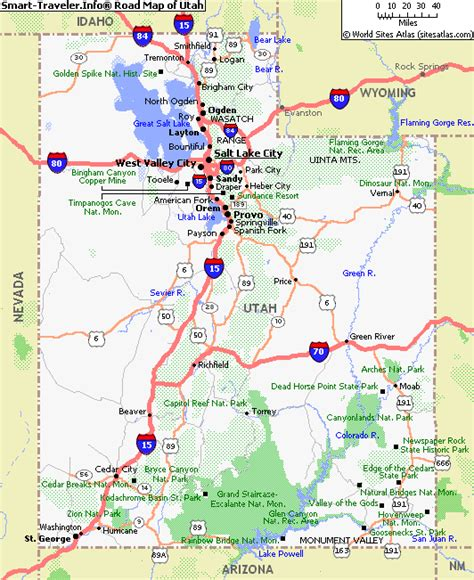 map  utah america maps map pictures