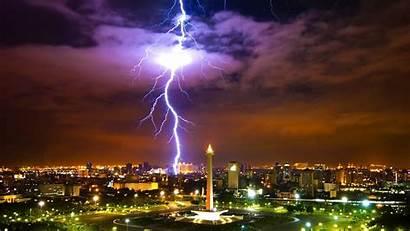 Jakarta Indonesia Java Lightning Evening Background Wallpapers