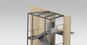 Cage descalier exterieure rdmetal bureau technique for Cage d escalier exterieur