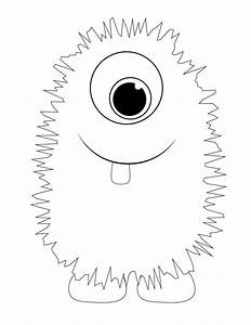 monster printable template monster bash pinterest With template mosnter