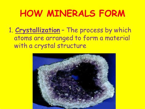 ways minerals can form how minerals form ppt video online download