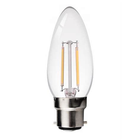 filament led candle bulb 2w bc b22d clear