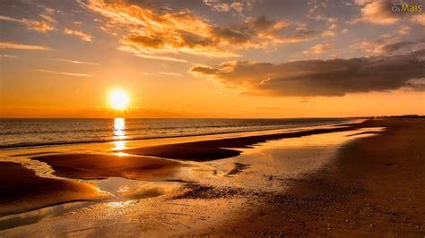 Osmaiscom  Papel De Parede Pôr Do Sol Na Praia Papel