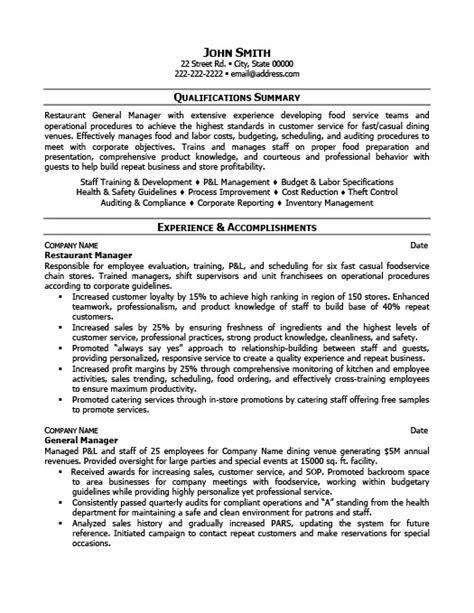 example of restaurant resume restaurant manager resume template premium resume